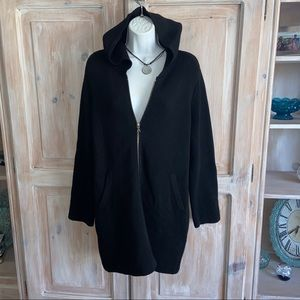 Margaret O'Leary Long Hooded ZIP Up Sweater 1